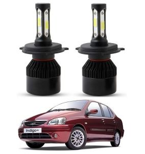 Trigcars Tata Indigo Sx LED Headlight Nighteye Light Set Of 2