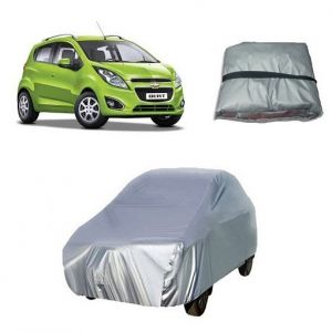 Car Accessories - Trigcars Chevrolet Beat Car Cover Silver