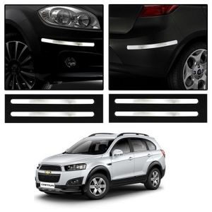 Safety guards - Trigcars Chevrolet Captiva Car Chrome Bumper Scratch Potection Guard   Car Bluetooth