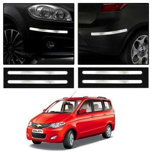Trigcars Chevrolet Enjoy Car Chrome Bumper Scratch Potection Guard Car Bluetooth