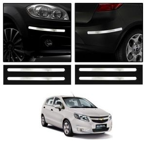 Safety guards - Trigcars Chevrolet Sail Car Chrome Bumper Scratch Potection Guard   Car Bluetooth