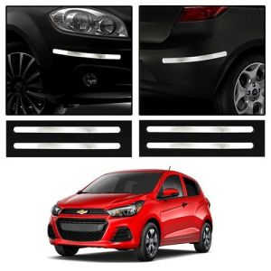 Safety guards - Trigcars Chevrolet Spark Car Chrome Bumper Scratch Potection Guard   Car Bluetooth