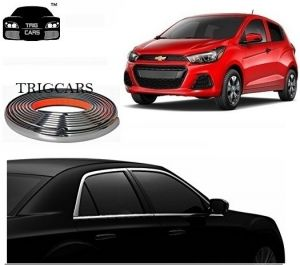 Car Accessories - Trigcars Chevrolet Spark Car Side Window Chrome Beading Moulding Roll   Car Bluetooth