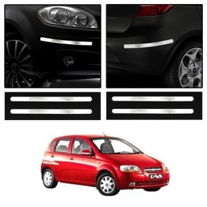 Trigcars Chevrolet Uva Car Chrome Bumper Scratch Potection Guard Car Bluetooth