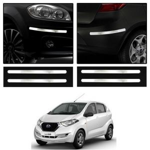 Safety guards - Trigcars Datsun Redi Go Car Chrome Bumper Scratch Potection Guard   Car Bluetooth