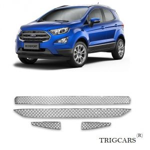 Car Accessories - Trigcars Ford Ecosport Car Front Grill Chrome Plated