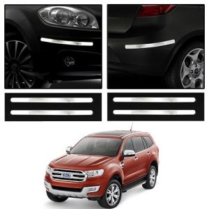 Safety guards - Trigcars Ford Endeavour New Car Chrome Bumper Scratch Potection Guard   Car Bluetooth