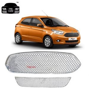 Car Accessories - Trigcars Ford Figo New Car Front Grill Chrome Plated