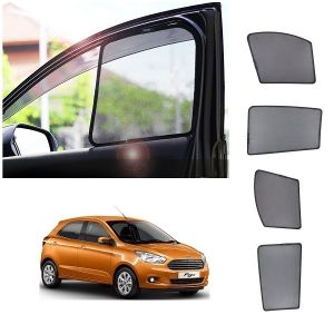Magnetic curtain and sunshades for cars - Trigcars Ford Figo New Car Half Sun Shade