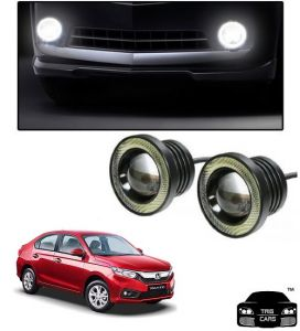 Car Accessories - Trigcars Honda Amaze 2018 Car High Power Fog Light With Angel Eye