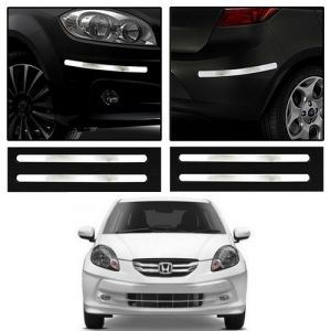 Safety guards - Trigcars Honda Amaze Old Car Chrome Bumper Scratch Potection Guard   Car Bluetooth 250/-