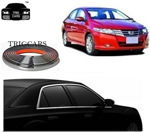 Trigcars Honda City Car Side Window Chrome Beading Moulding Roll Car Bluetooth