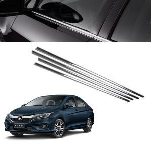 Chrome beading for cars - Trigcars Honda City Car Window Lower Garnish