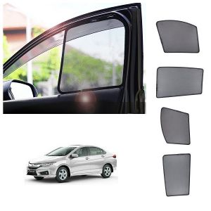 Magnetic curtain and sunshades for cars - Trigcars Honda City New Car Half Sun Shade