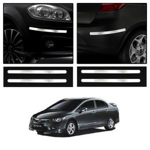 Trigcars Honda Civic Old Car Chrome Bumper Scratch Potection Guard Car Bluetooth