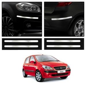 Safety guards - Trigcars Hyundai Getz Car Chrome Bumper Scratch Potection Guard   Car Bluetooth