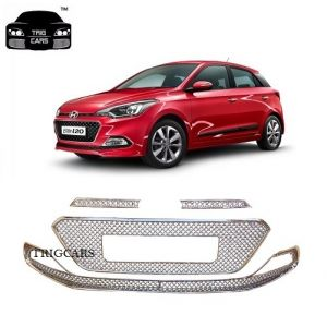 Car Accessories - Trigcars Hyundai i20 Elite Car Front Grill Chrome Plated