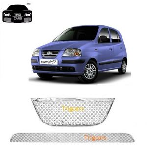 Car Accessories - Trigcars Hyundai Santro Xing  Car Front Grill Chrome Plated