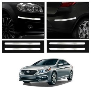 Safety guards - Trigcars Hyundai Sonata New Car Chrome Bumper Scratch Potection Guard   Car Bluetooth