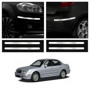 Safety guards - Trigcars Hyundai Sonata Old Car Chrome Bumper Scratch Potection Guard   Car Bluetooth