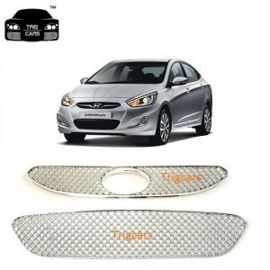 Car Accessories - Trigcars Hyundai Verna Car Front Grill Chrome Plated