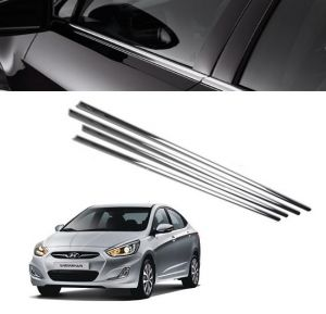 Trigcars Hyundai Verna Car Window Lower Garnish