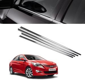 Trigcars Hyundai Verna Fludic Car Window Lower Garnish