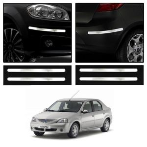 Safety guards - Trigcars Mahindra Logan Car Chrome Bumper Scratch Potection Guard   Car Bluetooth