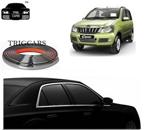 Chrome beading for cars - Trigcars Mahindra Qunto Car  Side Window Chrome Beading Moulding Roll   Car Bluetooth
