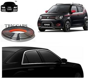 Trigcars Maruti Suzuki Ignis Car Side Window Chrome Beading Moulding Roll Car Bluetooth