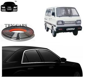 Trigcars Maruti Suzuki Omni Car Side Window Chrome Beading Moulding Roll Car Bluetooth