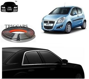 Trigcars Maruti Suzuki Ritz Car Side Window Chrome Beading Moulding Roll Car Bluetooth