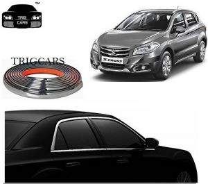 Trigcars Maruti Suzuki S-cross Car Side Window Chrome Beading Moulding Roll Car Bluetooth