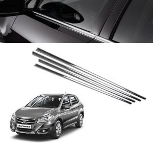 Chrome beading for cars - Trigcars Maruti Suzuki S Cross Car Window Lower Garnish