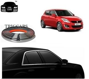 Chrome beading for cars - Trigcars Maruti Suzuki Swift 2006 Car Side Window Chrome Beading Moulding Roll   Car Bluetooth