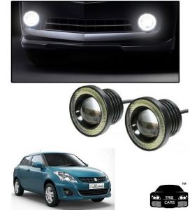 Fog lights - Trigcars Maruti Suzuki Swift Dzire 2011-2013 Car High Power Fog Light With Angel Eye