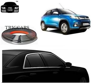Chrome beading for cars - Trigcars Maruti Suzuki Vitara Brezza Car Side Window Chrome Beading Moulding Roll   Car Bluetooth