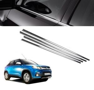 Chrome beading for cars - Trigcars Maruti Suzuki Vitara Brezza Car Window Lower Garnish