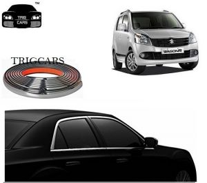 Chrome beading for cars - Trigcars Maruti Suzuki Wagon R 2011 Car Side Window Chrome Beading Moulding Roll   Car Bluetooth