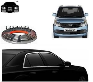Chrome beading for cars - Trigcars Maruti Suzuki Wagon R 2012 Car Side Window Chrome Beading Moulding Roll   Car Bluetooth