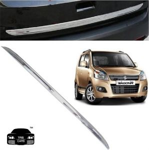 Car Accessories - Trigcars Maruti Suzuki Wagon R 2015 Car Chrome Dicky Garnish