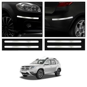 Safety guards - Trigcars Renault Duster Car Chrome Bumper Scratch Potection Guard   Car Bluetooth