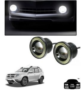 Trigcars Renault Duster Car High Power Fog Light With Angel Eye