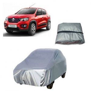 Body covers for cars - Trigcars Renault Kwid Car Cover Silver