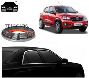 Car Accessories - Trigcars Renault Kwid Car Side Window Chrome Beading Moulding Roll   Car Bluetooth