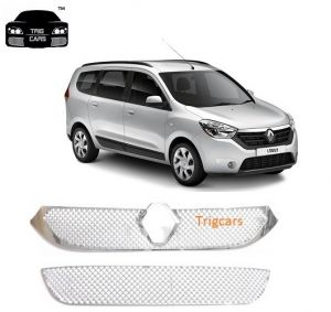 Car Accessories - Trigcars Renault Lodgy Car Front Grill Chrome Plated