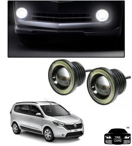 Trigcars Renault Lodgy Car High Power Fog Light With Angel Eye