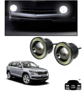 Car Accessories - Trigcars Skoda Kodiaq Car High Power Fog Light With Angel Eye