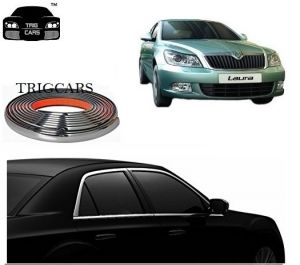 Chrome beading for cars - Trigcars Skoda Laura Car Side Window Chrome Beading Moulding Roll   Car Bluetooth