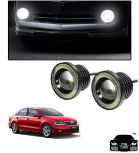 Trigcars Skoda Rapid 2018 Car High Power Fog Light With Angel Eye